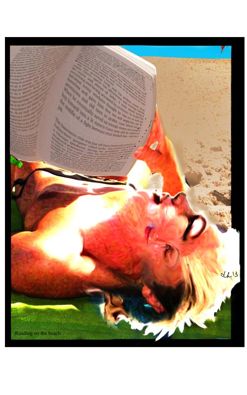 smallReading on the beach