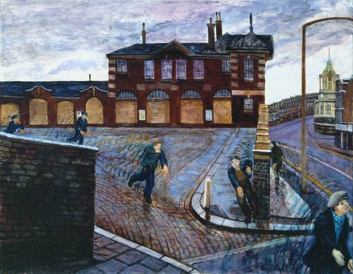 Clapham Junction 1978 by Carel Weight 1908-1997