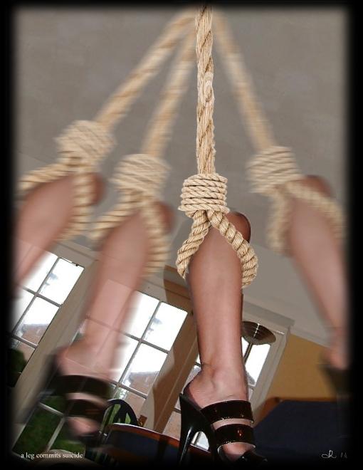 a leg commits suicide