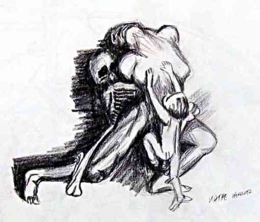Kathe-Kollwitz-drawing-on-violence