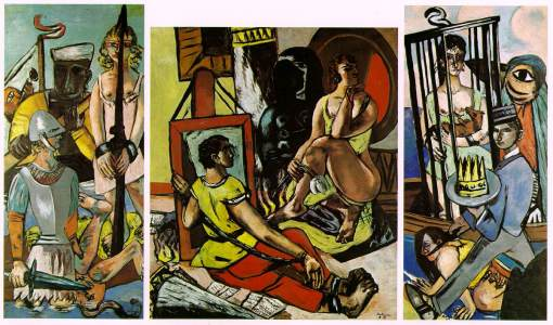 max beckmann triptych-of-the-temptation-of-st-anthony-1937