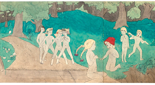 Henry-Darger_Side-B_41-at-Jennie-Richee-are-lost_Ricco-Maresca-Gallery-NYC