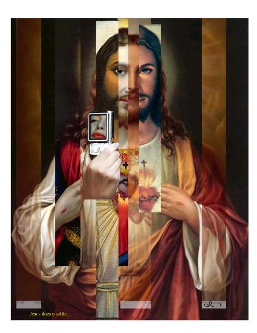 Jesus does a selfie