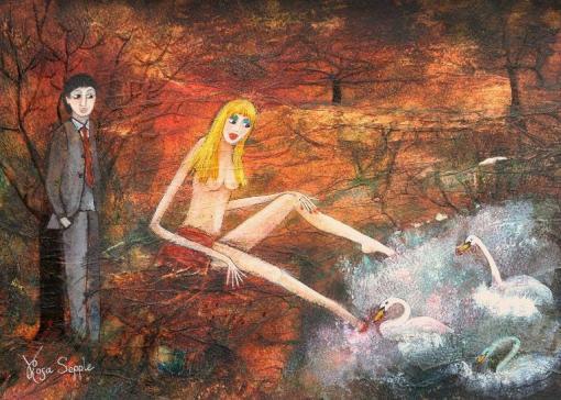 Rosa Sepple On Golden Pond 38x25.4cm
