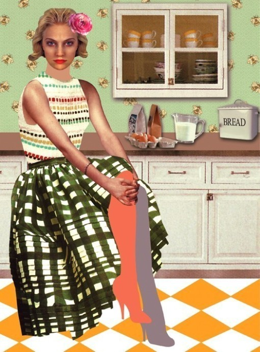 Peggy wolf in the kitchen