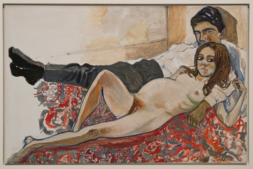 Alice-Neel-Pregnant-Julie-and-Algis-1967