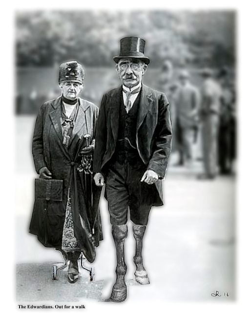 The Edwardians. out for a walk2