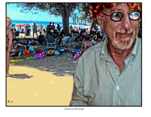 Genova on the beach