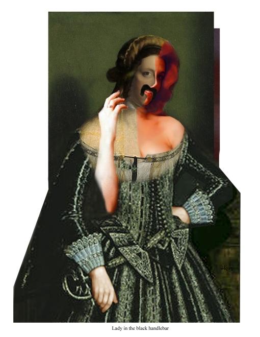Lady in the black handlebar