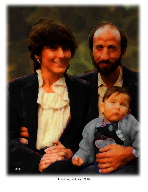 Linda, Vic, and Peter 1980s