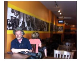 David at a cafe