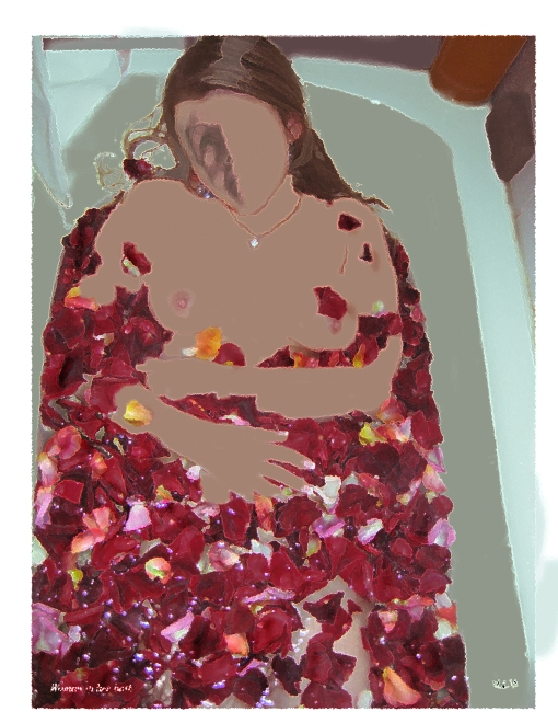 woman in her bath2