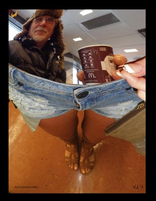 Kuris loves his coffee