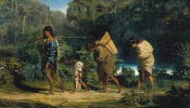 alfred-boisseau-louisiana-indians-walking-along-a-bayou-1847-oil-on-canvas-24-x-40-inches-new-orleans-museum-of-art-gift-of-william-e-groves