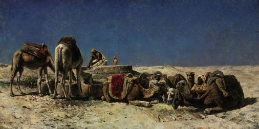 edwin_lord_weeks_-_camels_beside_a_cistern