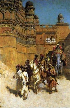 the-maharahaj-of-gwalior-before-his-palace