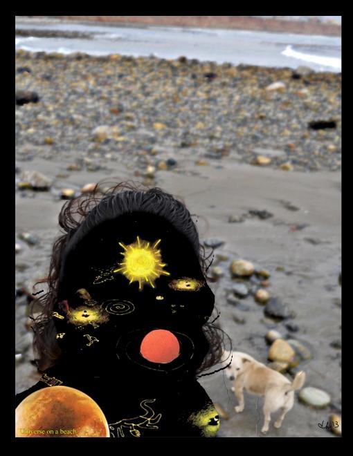 universe on a beach