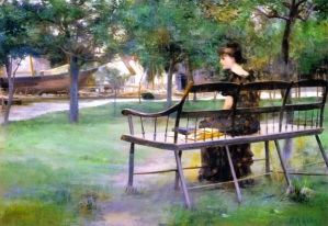 woman-on-a-park-bench