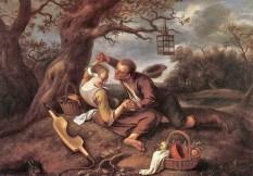1660 Jan Steen (Dutch artist, 1626-1679) Merry Couple