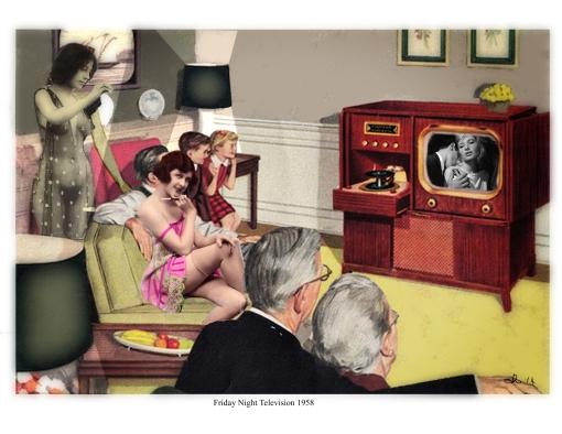 Friday night television 1958