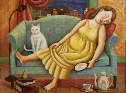 rick-beerhorst-painting-reclining-girl