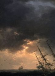 Shipwreck in a thunderstorm *oil on canvas *113 x 162 cm *1770