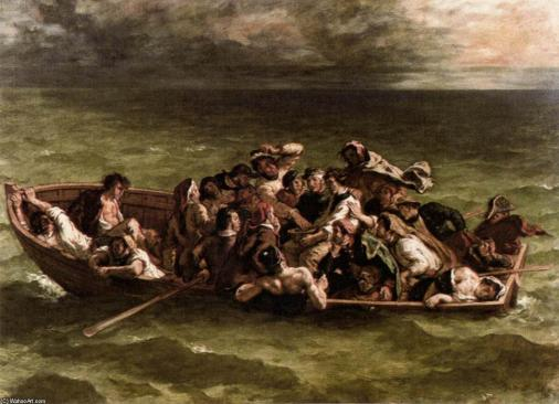 Ferdinand-Victor-Eugene-Delacroix-Shipwreck-of-Don-Juan-2-