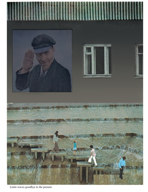 Lenin waves goodbye to the present