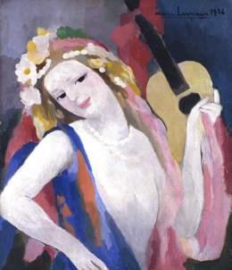 Laurencin, Marie; La guitare; Aberdeen Art Gallery & Museums; http://www.artuk.org/artworks/la-guitare-107232