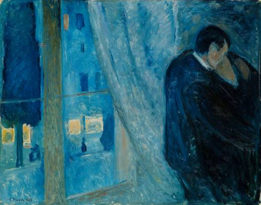 Edvard Munch (Norwegian, 1863-1944). Kiss by the Window, 1892