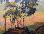 Robert_Antoine_Pinchon,_Vue_prise_au_Mont-Gargan_soleil_couchant_(before_1909),_oil_on_canvas,_65_x_81_cm,_Musée_des_Beaux-Arts_de_Rouen