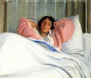 4-Portrait-of-the-Artists-Wive-Edity-Tonalism-painter-Joseph-DeCamp
