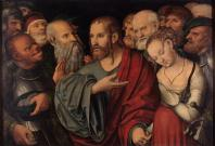 Cranach_the_Younger,_Lucas_-_Christ_and_the_adulteress
