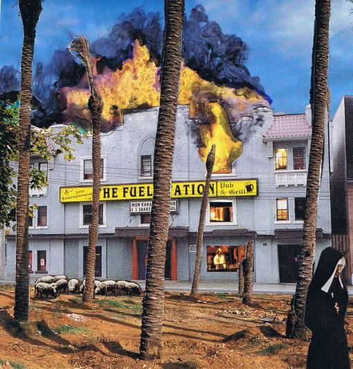 Fuel Station Burning