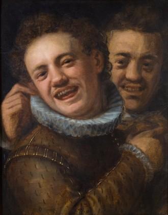 Hans_von_Aachen_-_Two_Laughing_Men_(Self-portrait)