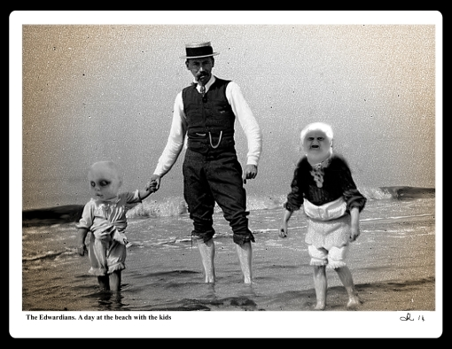 The Edwardians. a day at the beach with the kids2