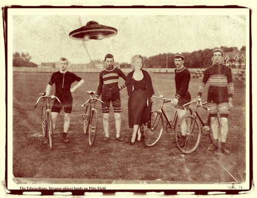 The Edwardians. strange object lands on Pitts Field2
