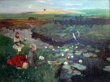 1897_Dettmann_Bei_den_Wasserrosen_im_Moor_anagoria