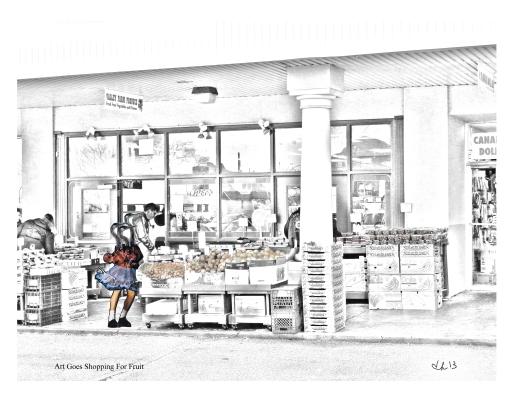 Art Goes Shopping for Fruit