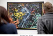 chemnitz-germany-3rd-mar-2017-visitors-look-at-the-painting-der-gequaelte-hrn35g