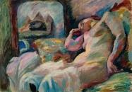 Franz-Noelken_Schlafender-Weiblicher-Akt-vor-einem-Spiegel_1915