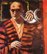 Max_Beckmann's_'Self-portrait_with_Horn',_1938-1940