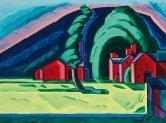 Oscar_Floranius_Bluemner_(1867-1938),_Illusion_of_a_Prairie,_New_Jersey_(Red_Farm_at_Pochuck),_1915._Christie's
