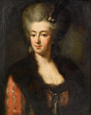 Portrait_of_a_lady_in_a_red_dress_with_a_fur-trimmed_wrap_18c