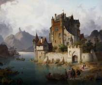 von Rustige, Heinrich Franz Gaudenz; The Castle Ferry; Torre Abbey Historic House and Gardens; http://www.artuk.org/artworks/the-castle-ferry-146276