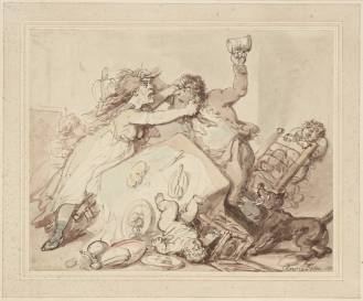 The Tables Turned null Thomas Rowlandson 1756-1827 Purchased as part of the Oppé Collection with assistance from the National Lottery through the Heritage Lottery Fund 1996 http://www.tate.org.uk/art/work/T08546