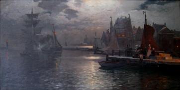 Heinrich_Petersen-Angeln_Hafen-Harlingen_1901