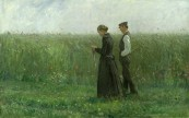 XKH154493 Sunday Afternoon, 1893 (oil on canvas); by Kalckreuth, Leopold Karl Walter von (1855-1928); 53.5x85 cm; Hamburger Kunsthalle, Hamburg, Germany; German, out of copyright