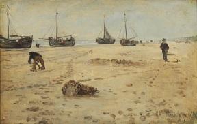 Leopold_von_Kalckreuth_-_Friesischer_Strand_mit_Fischerbooten_(1899)