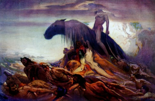 Ludwig Fahrenkrog (1867 – 1952) - Fate (Schicksal), 1917